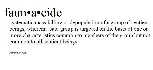 Faunacide - definition